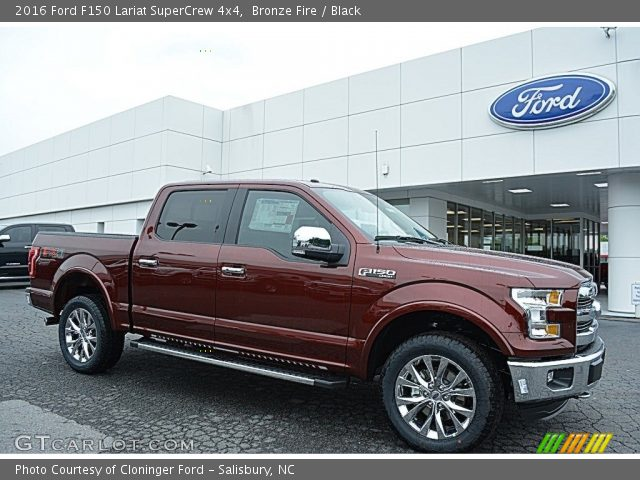 2016 Ford F150 Lariat SuperCrew 4x4 in Bronze Fire