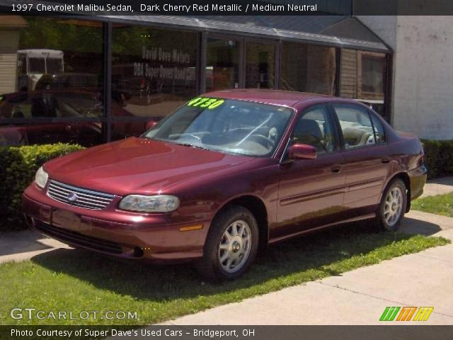 dark cherry red metallic 1997 chevrolet malibu sedan medium neutral interior. Black Bedroom Furniture Sets. Home Design Ideas
