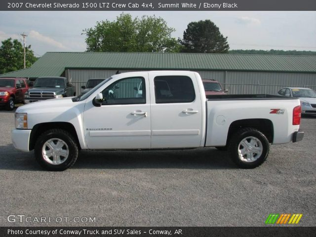 summit white 2007 chevrolet silverado 1500 ltz crew cab. Black Bedroom Furniture Sets. Home Design Ideas