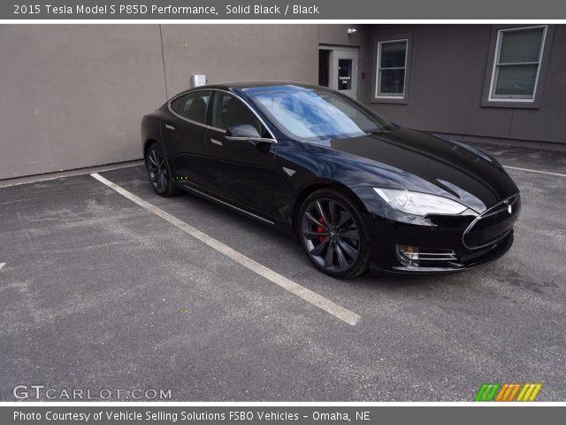 2015 Tesla Model S P85D Performance in Solid Black