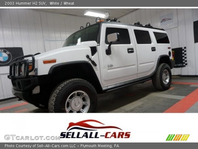 2003 Hummer H2 SUV in White