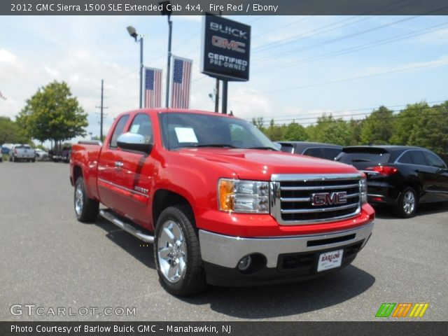 fire red 2012 gmc sierra 1500 sle extended cab 4x4 ebony interior vehicle. Black Bedroom Furniture Sets. Home Design Ideas