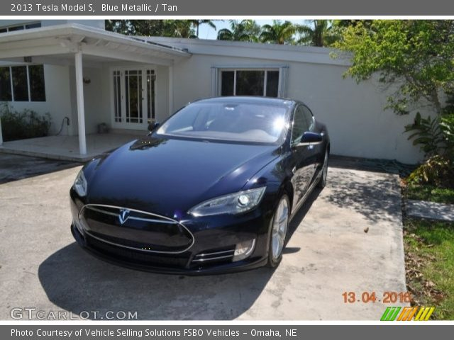 2013 Tesla Model S  in Blue Metallic
