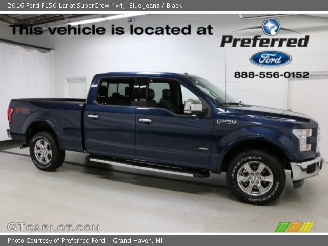 2016 Ford F150 Lariat SuperCrew 4x4 in Blue Jeans