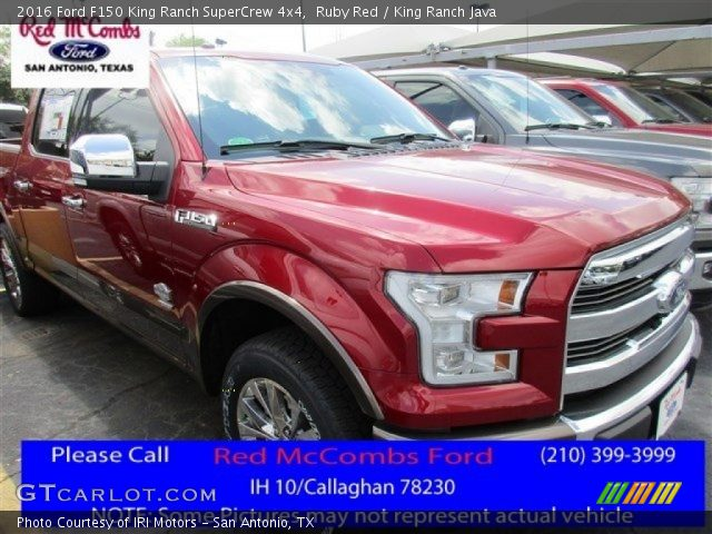 2016 Ford F150 King Ranch SuperCrew 4x4 in Ruby Red