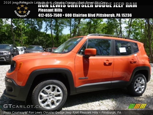 2016 Jeep Renegade Latitude 4x4 in Omaha Orange