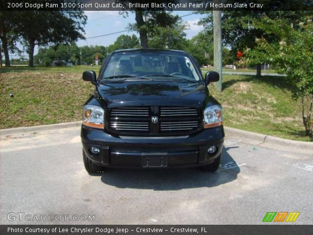 brilliant black crystal pearl 2006 dodge ram 1500 sport quad cab medium slate gray interior. Black Bedroom Furniture Sets. Home Design Ideas