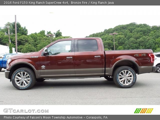 2016 Ford F150 King Ranch SuperCrew 4x4 in Bronze Fire