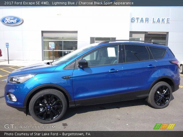 lightning blue 2017 ford escape se 4wd charcoal black sport appearance interior gtcarlot. Black Bedroom Furniture Sets. Home Design Ideas