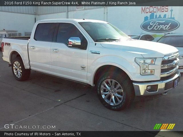2016 Ford F150 King Ranch SuperCrew 4x4 in White Platinum