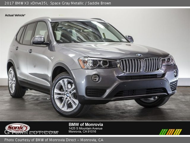 space gray metallic 2017 bmw x3 xdrive35i saddle brown. Black Bedroom Furniture Sets. Home Design Ideas