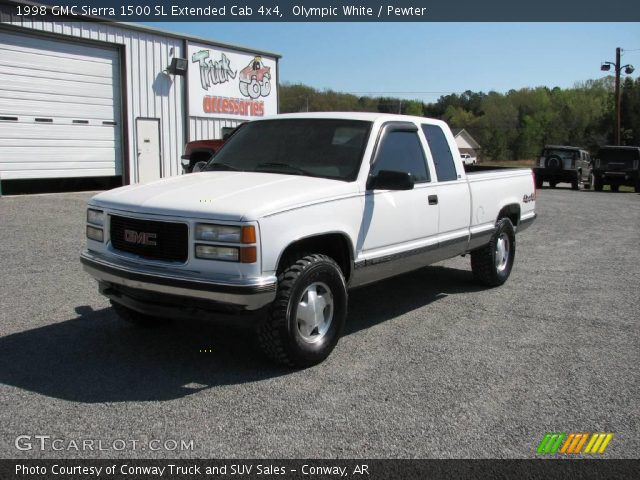 olympic white 1998 gmc sierra 1500 sl extended cab 4x4. Black Bedroom Furniture Sets. Home Design Ideas