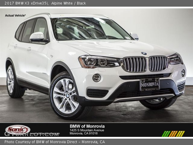alpine white 2017 bmw x3 xdrive35i black interior vehicle archive 113803558. Black Bedroom Furniture Sets. Home Design Ideas