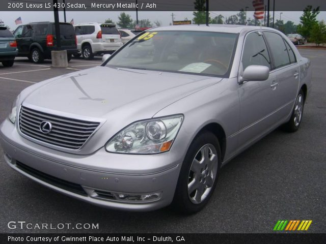 mercury metallic 2005 lexus ls 430 sedan ash interior. Black Bedroom Furniture Sets. Home Design Ideas