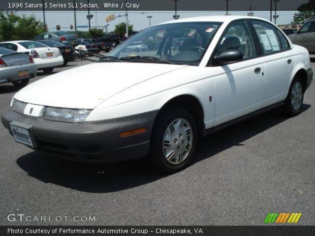 White - 1996 Saturn S Series Sl1 Sedan