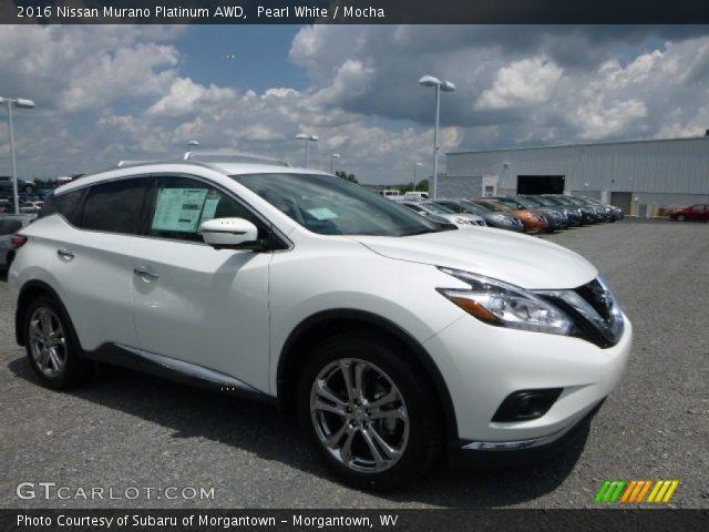 Pearl white 2016 nissan murano platinum awd mocha - Nissan murano 2017 interior colors ...