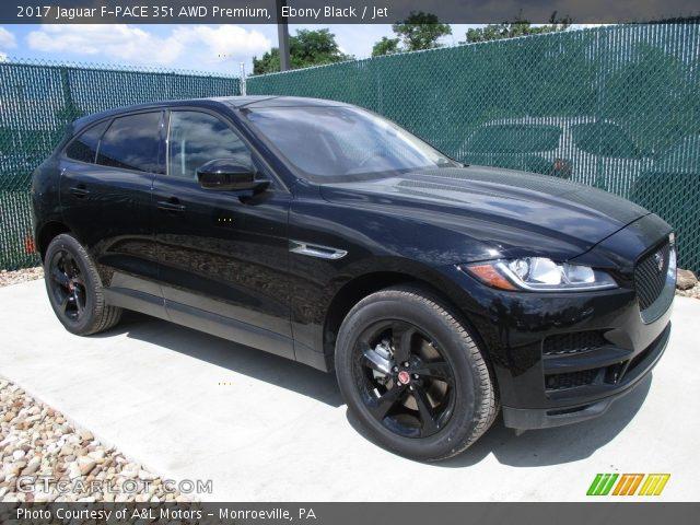 ebony black 2017 jaguar f pace 35t awd premium jet interior vehicle archive. Black Bedroom Furniture Sets. Home Design Ideas