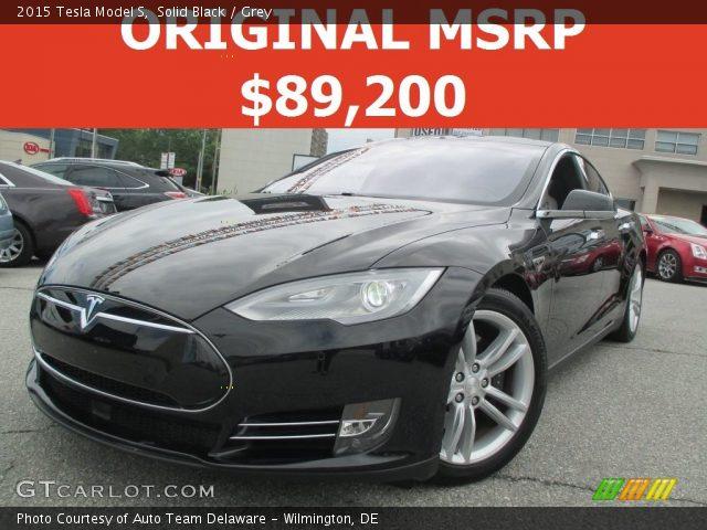 2015 Tesla Model S  in Solid Black