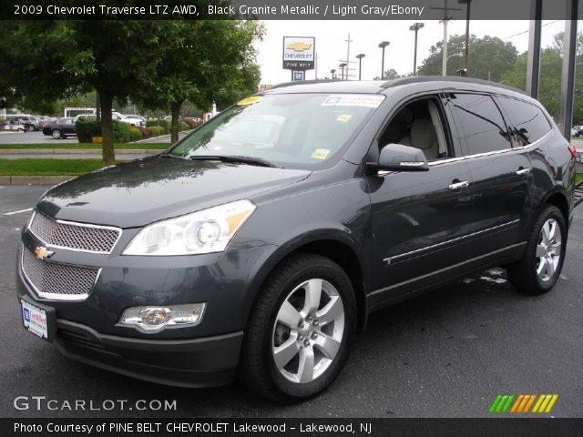 Black Granite Metallic 2009 Chevrolet Traverse Ltz Awd Light Gray Ebony Interior Gtcarlot