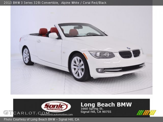 Alpine White 2013 Bmw 3 Series 328i Convertible Coral Red Black Interior
