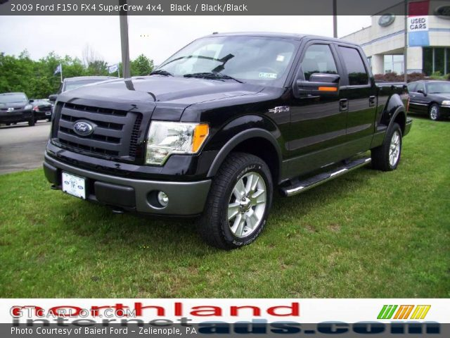 black 2009 ford f150 fx4 supercrew 4x4 black black. Black Bedroom Furniture Sets. Home Design Ideas