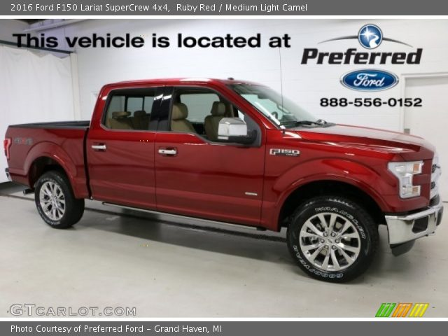 2016 Ford F150 Lariat SuperCrew 4x4 in Ruby Red