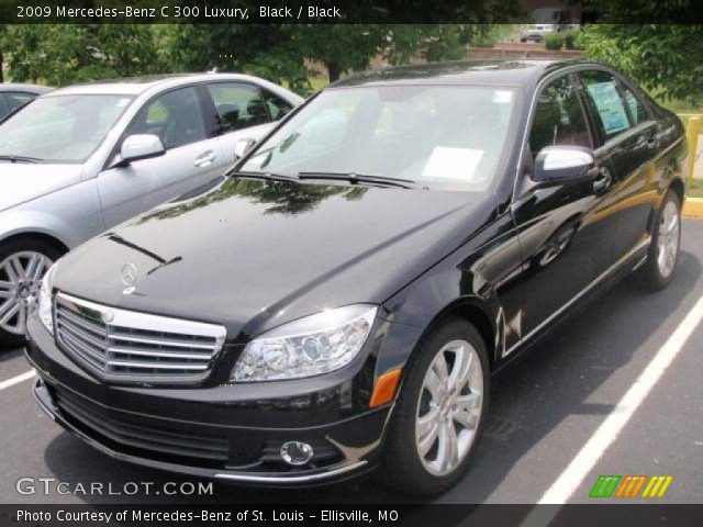 Black 2009 mercedes benz c 300 luxury black interior for 2009 mercedes benz c 300