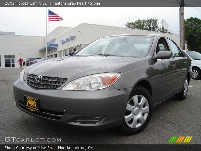 phantom gray pearl 2002 toyota camry le stone interior vehicle archive. Black Bedroom Furniture Sets. Home Design Ideas