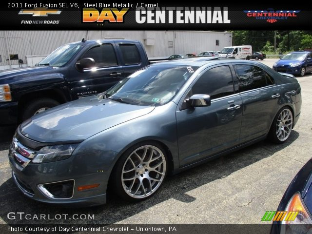2011 Ford Fusion SEL V6 in Steel Blue Metallic