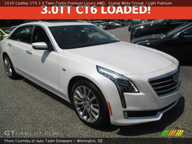 2016 Cadillac CT6 3.0 Twin-Turbo Premium Luxury AWD in Crystal White Tricoat