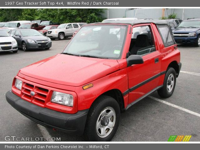 1997 Geo Tracker Soft Top 4x4 in Wildfire Red