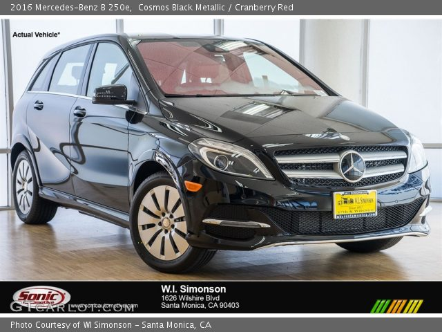 2016 Mercedes-Benz B 250e in Cosmos Black Metallic