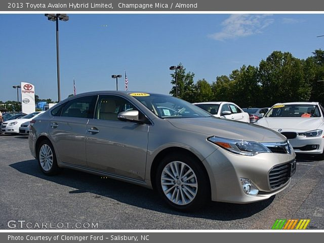 champagne mica 2013 toyota avalon hybrid limited almond interior vehicle. Black Bedroom Furniture Sets. Home Design Ideas