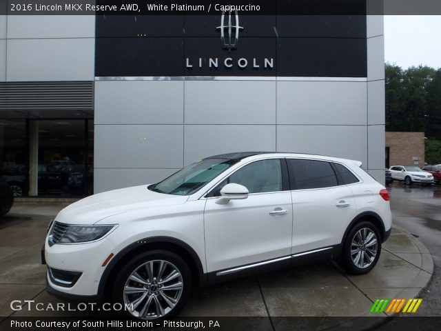 2016 Lincoln MKX Reserve AWD in White Platinum