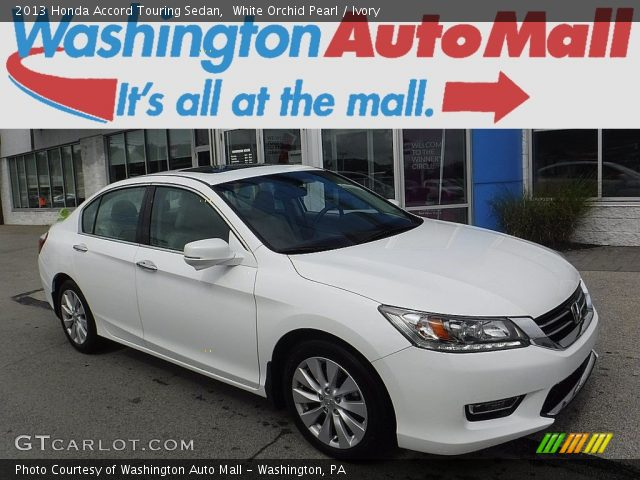 2013 Honda Accord Touring Sedan in White Orchid Pearl