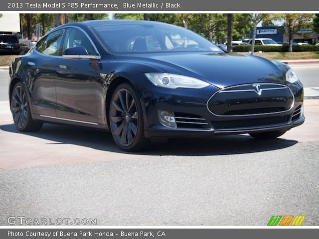 2013 Tesla Model S P85 Performance in Blue Metallic