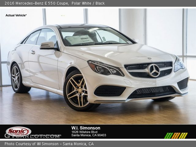 2016 Mercedes-Benz E 550 Coupe in Polar White