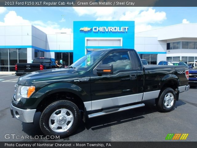2013 Ford F150 XLT Regular Cab 4x4 in Green Gem Metallic