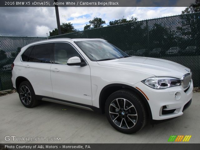 alpine white 2016 bmw x5 xdrive35i canberra beige black interior vehicle. Black Bedroom Furniture Sets. Home Design Ideas