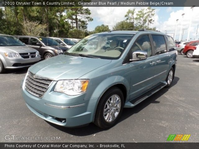 2010 Chrysler Town & Country Limited in Clearwater Blue Pearl