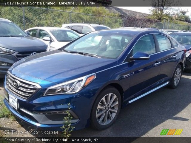 Lakeside Blue - 2017 Hyundai Sonata Limited - Gray ...
