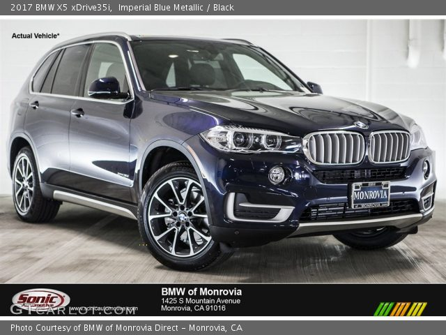 2017 BMW X5 XDrive35i In Imperial Blue Metallic