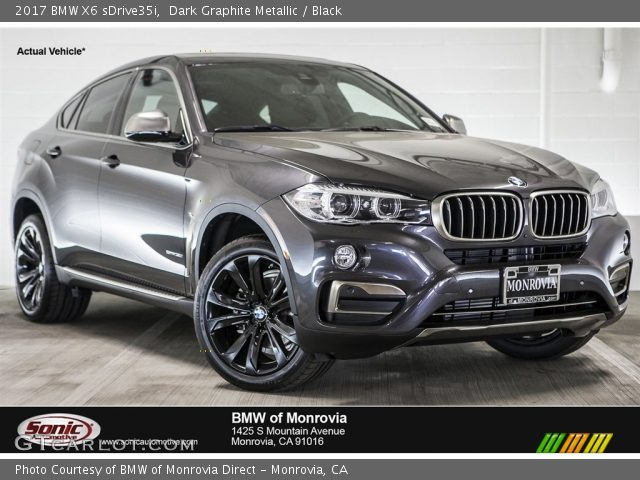 dark graphite metallic 2017 bmw x6 sdrive35i black interior vehicle archive. Black Bedroom Furniture Sets. Home Design Ideas