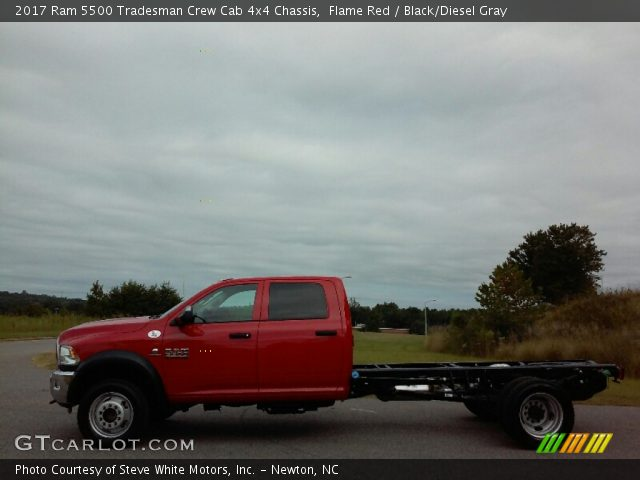 2017 Ram 5500 Tradesman Crew Cab 4x4 Chassis in Flame Red