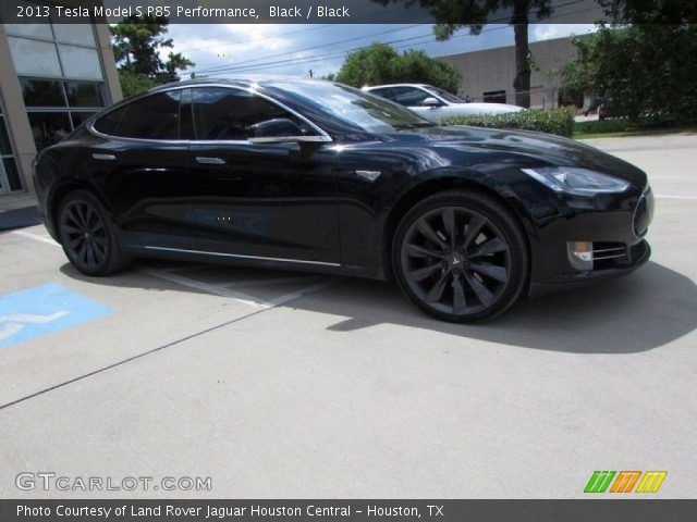 2013 Tesla Model S P85 Performance in Black
