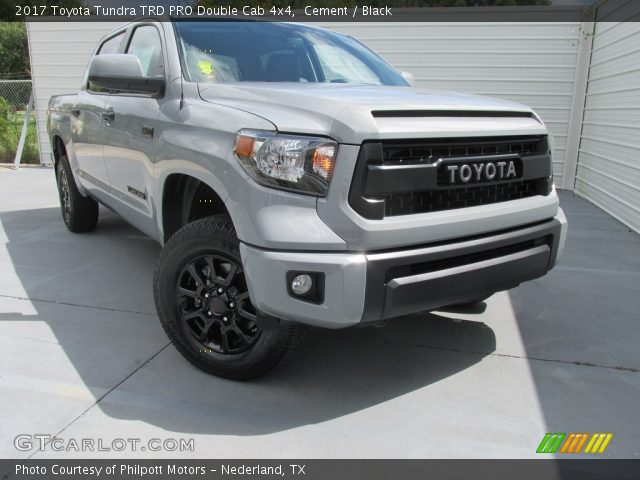 cement 2017 toyota tundra trd pro double cab 4x4 black interior vehicle. Black Bedroom Furniture Sets. Home Design Ideas