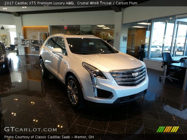 Crystal White Tricoat 2017 Cadillac Xt5 Premium Luxury Awd Carbon Plum Interior Gtcarlot
