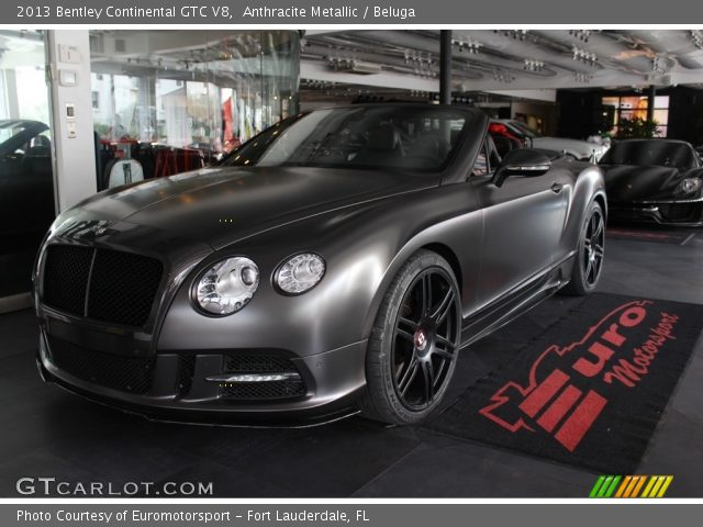 2013 Bentley Continental GTC V8  in Anthracite Metallic