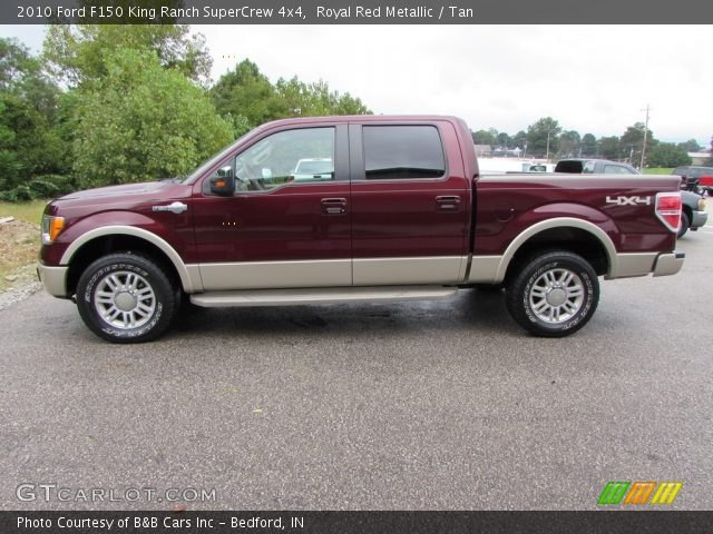 2010 Ford F150 King Ranch SuperCrew 4x4 in Royal Red Metallic