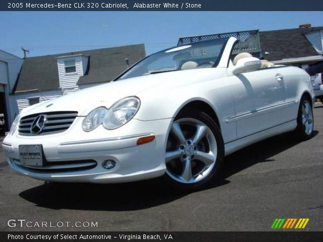 Alabaster white 2005 mercedes benz clk 320 cabriolet for 2005 mercedes benz clk 320